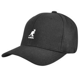 Kangol - Black Wool Flexfit Baseball Hat Main
