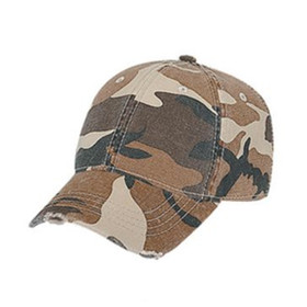 Otto Cap Youth Distressed Camouflage Baseball Cap - Full View