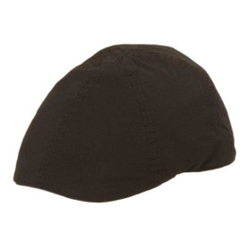 TLS Stefeno Ashley Cotton Duckbill Cap in Black - Full View