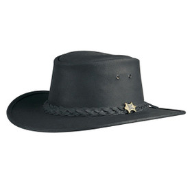 Conner Bush Walker Oily Hat in Black - Full View
