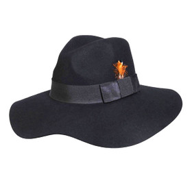 Conner - Allison Floppy Wool Hat in Black - Full View