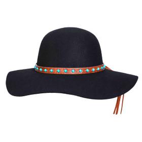 Conner - 1970 Floppy Wool Hat in Black - Full View