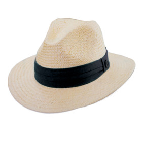 Tommy Bahama - Pinched Crown Fedora Hat in Black