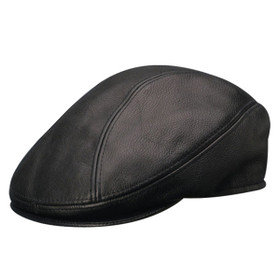 Stetson - Distressed Leather Ivy Cap in Black