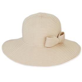 Sun 'N' Sand - Foldable Ribbon Sun Hat in Natural