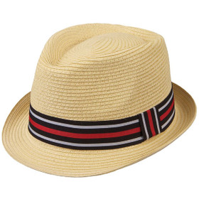 Kenny K - Two Tone Band Toyo Fedora Hat