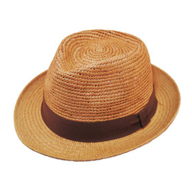 Henschel - Crochet Panama Fedora in Wheat - Full View
