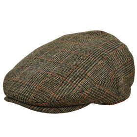 Stetson - Plaid Italian Wool Ivy Cap in Olive - Full View