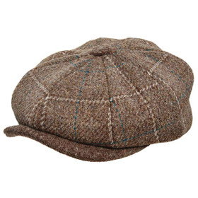 Stetson - Authentic Italian Wool Newsboy Cap in Brown - Full View