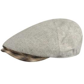 Country Gentleman Roman Ivy Flat Cap in Light Grey