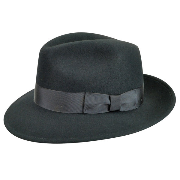 Country Gentleman - Frederic Felt Fedora in Black