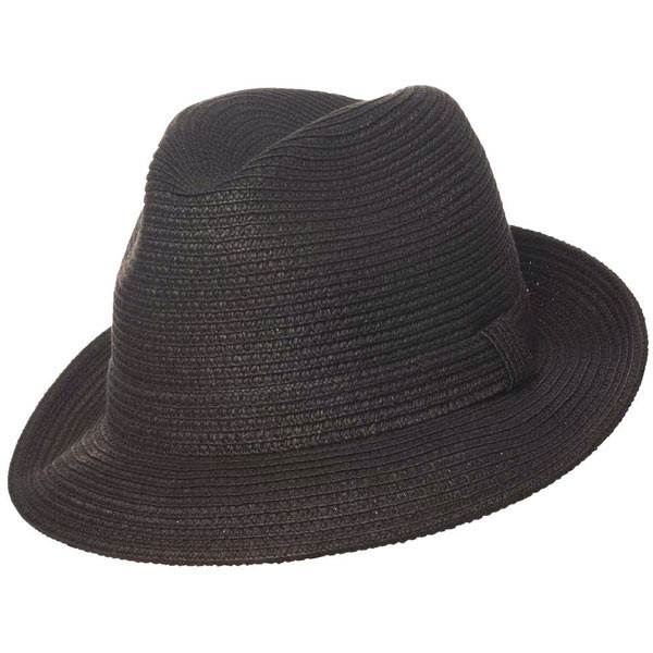 Country Gentleman - Theo Straw Fedora in Black