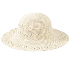 San Diego Hat Company - Cotton Crochet Mid Brim Sun Hat in Natural