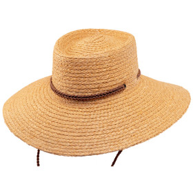 Scala- Braided Raffia Aussie Boater Sun Hat
