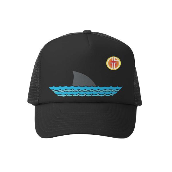 Grom Squad - Sharky Black Toddler Trucker Hat