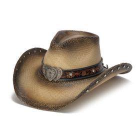 Stampede Hats - Heart Rhinestone Cowboy Hat - Front Angle