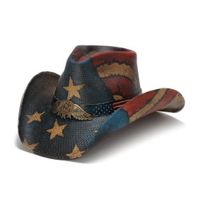 Stampede Hats - Vintage Winged USA Hat - Front Angle