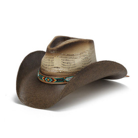 Stampede Hats - Color Bead Two Tone Cowboy Hat - Front Angle
