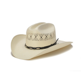 50X Shantung Cowboy Hat with Mini Conchos - Front Angle