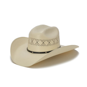 Stampede Hats - 50X Shantung Cowboy Hat with Diamond Conchos - Front Angle