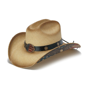 Stampede Hats - Flying Eagle Brim USA Flag Cowboy Hat - Front Angle