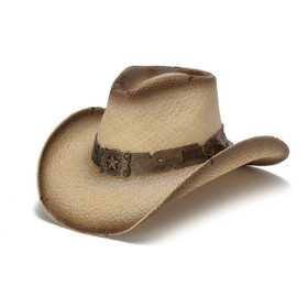 Stampede Hats - Antique Lone Star Distressed Cowboy Hat - Front Angle