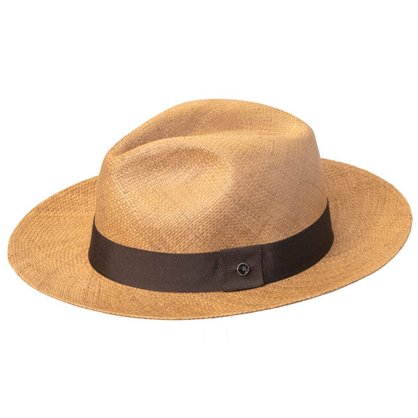 Austral Hats - Light Brown Panama Hat with Brown Band - Side