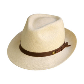 Austral Hats - Beige Panama Hat with Brown Band