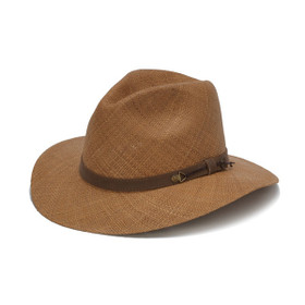 Austral Hats - Light Brown Panama Hat with String Band - Angle