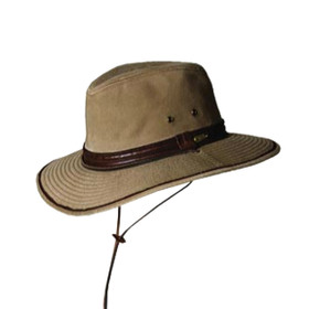 Stetson - Garment Wash Twill Safari Hat in Bronze