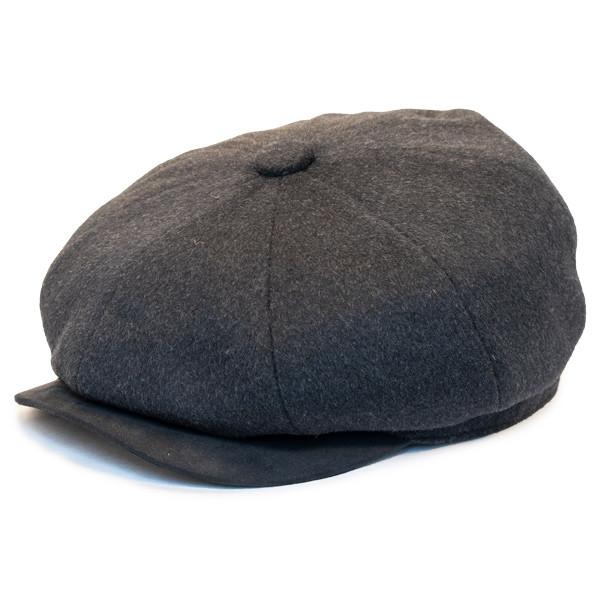 Henschel - Wool Blend 8 Panel Newsboy Cap in Black - Full