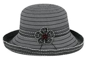 Jeanne Simmons - Ribbon bucket Hat Black