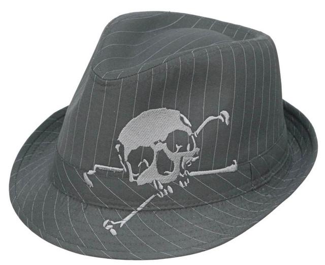 Kenny K - Skull Embroidered Fedora Hat