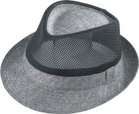 Henschel - Mesh Charcoal Fedora Hat