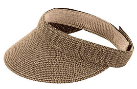 Jeanne Simmons - Brown Tweed Visor