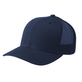 Navy Retro Snapback Trucker Cap