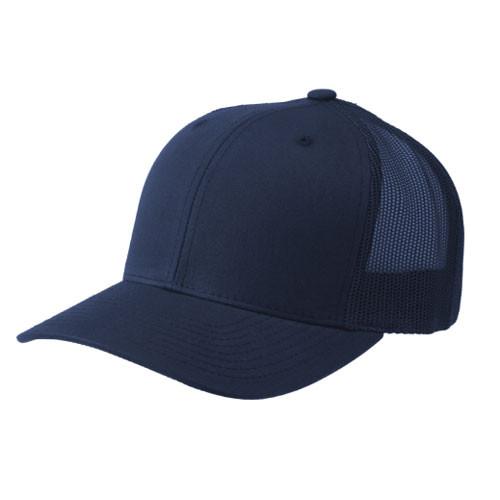 Flexfit Navy Retro Trucker Cap Hats Unlimited