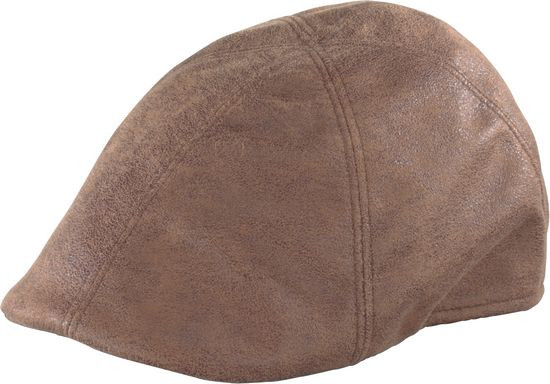 Henschel - Brown Faux Leather Duckbill Cap