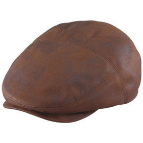 Henschel - Faux Leather New Shape Ivy Cap in Rust