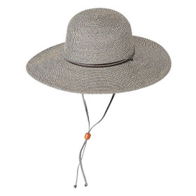 "Jeanne Simmons - Black 4"" Flat Brim Hat"