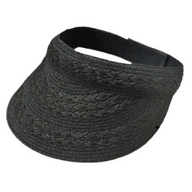 Jeanne Simmons - Black Paper Braid Visor