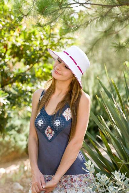 California Hat Company - Cotton Mid Brim Sun Hat model