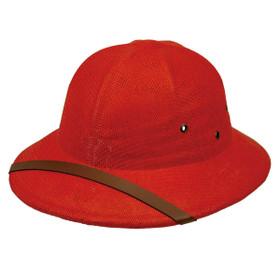 Karen Keith - Red Toyo Pith Helmet