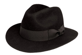 Kenny K - Black Wool Felt Safari Fedora