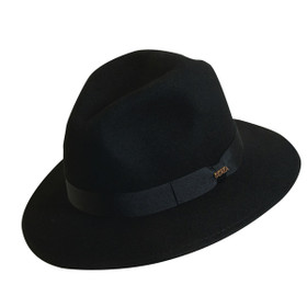 Scala - Black Crushable Wool Felt Safari Hat