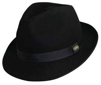 Dorfman Pacific - Black Crushable Wool Felt Fedora Hat
