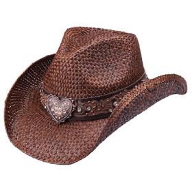Peter Grimm - Flint Brown Heart Drifter Cowboy Hat
