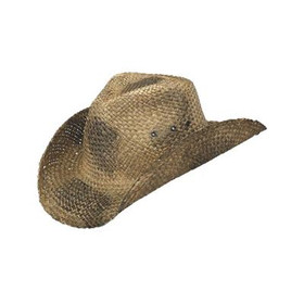 Peter Grimm - Maverick Black Straw Cowboy Hat
