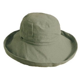 Scala - Small Brim Natural Olive Bucket Hat