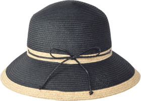 Karen Keith - Two Tone Braided Cloche Hat